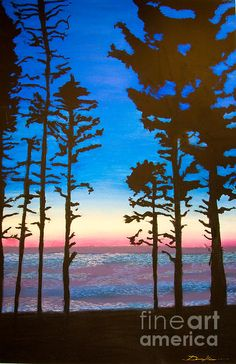 Pastel painting of Ruby Beach