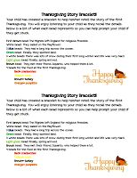 Thanksgiving story bracelet to re-tell the passage of the Pilgrims to America
