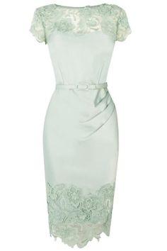 Lace stitching short sleeve Slim Dress_Dresses(d)_DESIGNER_Voguec Shop