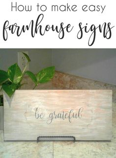 How to make easy wood farmhouse signs with this tutorial from CrazyDiyMom. All you need is a printer and contact paper!