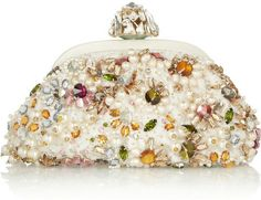Miss Dea Small Embellished Lace Clutch - Lyst