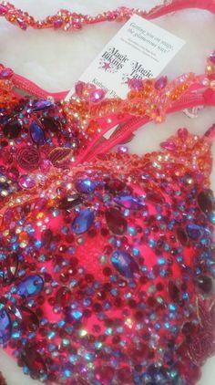 Wbff Bikini, Coral Orange, Competition Bikinis, Madness, Magic, Makeup, Make Up, Beauty Makeup, Bronzer Makeup