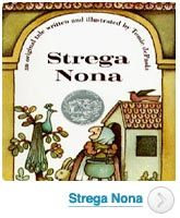 Strega Nona.  This is in my top 5 for books I loved as a child.  Can still hear my mom doing the voices. :-)