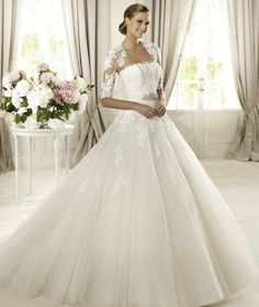 classic-wedding-dress-for-church-ceremony-pronovias-glamour-2013-domingo__full 70 Breathtaking Wedding Dresses to Look like a real princess