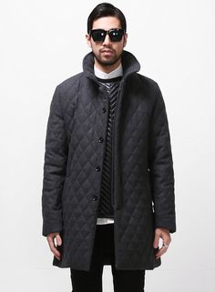 Fabio Woolen Quilted Slim Coat $95.00