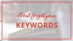 """31 Days of Social Media Tips! Tip: Don't forget your keywords. Keywords and key phrases the things your target audience might be searching for. They're also how search engines know what your content is about. They're used to determine if traffic is sent to your content. Don't forget to use them in your content - be it your blog, website, press releases, etc. - but don't use them arbitrarily, be intentional about when and where you use them. Otherwise, you're """"keyword spamming""""."""