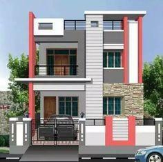 44+ new ideas house plans duplex front elevation Bungalow Haus Design, Duplex House Design, Small House Design, Modern House Design, Independent House, Front Elevation Designs, House Elevation, House Paint Design, Paint Designs