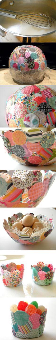 How to Make Confetti Bowl || Original bol de confeti y papel maché