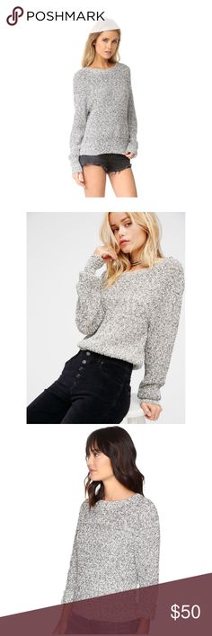 Free People sweater pull over NWT Soft sweater pull over from Free People. Size large. Photos of actual sweater and measurements will be posted soon. Free People Tops