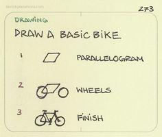 How to draw a basic bike