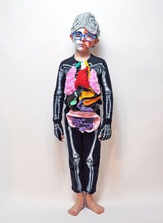 The Human Body Halloween Costume Halloween 2018, Crazy Halloween Costumes, Halloween Kids, Halloween Party, Dress Up Costumes, Cool Costumes, Science Costumes, Mardi Gras, Human Body