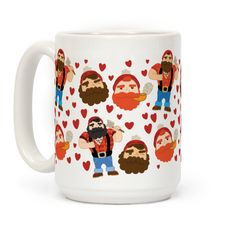 Lumberjack Love  #mugs #coffee #design #trendy #coffeemug #pattern #love #beards #beardedmen #lumberjacks
