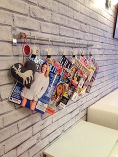 Magazine rack at Ampla Vella