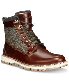 Timberland Men's Britton Hill Leather & Tweed Boots - All Men's Shoes - Men  - Macy's
