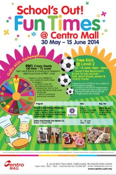 It's the School Holidays again, folks Let's have fun @ Centro Mall !