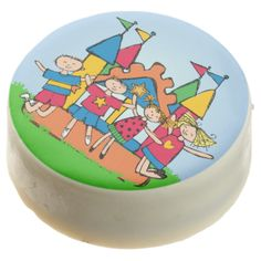 Bounce House Birthday dipped Oreos and Oreo pops, a sweet treat for the birthday child and the guests at the celebration, also makes a fantastic take home party favor! Features several children having fun on a bounce house! #kids #birthdays #bouce #house #bouncy #amusement #park #cute #jumping #fun colorful