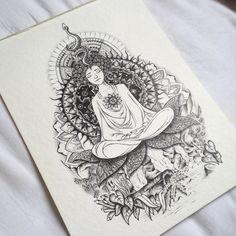 Desenho de mandalas e meditação. #desenho #drawing #zen #meditacao #meditation #art #arte #pretoebranco #blackandwhite
