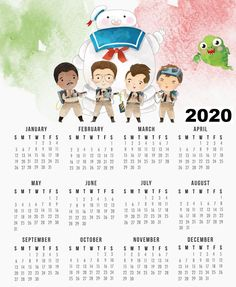 """""""Who you gonna call"""".your Free Printable 2018 Ghostbusters Calendar to give you your favorite dates! Another great calendar in our ongoing collection! Free Printable Calendar Templates, 2020 Calendar Template, Free Calendar, Yearly Calendar, Free Printables, Ghostbusters, Interchangeable Knitting Needles, Oh My Fiesta, Harry Potter"""