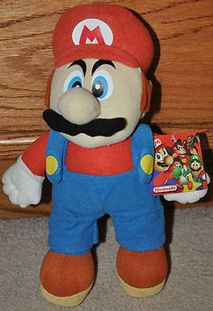 Super Mario Bros 12' stuffed plush nintendo collector 2002 w/tags ...