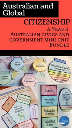 A Year 6 Civics and Citizenship mini-unit bundle covering the Australian Citizenship Pledge, the rights and responsibilities of Australian citizenship and Global Citizenship. Filled with teaching activities, interactive notebook activities, information sheets and assessment tasks. Aligns with the Australian Curriculum for Year 6 Civics and Citizenship (HASS/Social Studies)