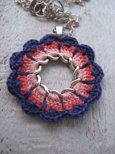 Beautiful delicate crochet flower pendant necklace by zetaemme, £15 ...