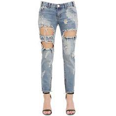 11821f7dc ONE TEASPOON Destroyed Cotton Denim Jeans. Yetunde Abe · Jean · CALÇA  SKINNY PUÍDOS ...