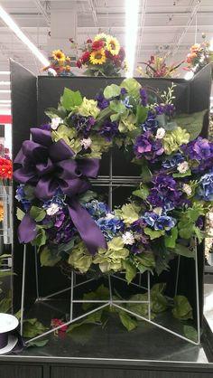 Love Purple Hydrangias wreath...Robin Evans