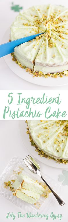 Celebrate St. Patrick's Day with this 5 Ingredient Super Moist Pistachio Cake! It's a recipe that infuses a soft drink into it. You won't want to miss this dessert.