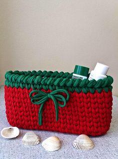 Interior basket crocheted basket storage basket natural cotton  home decor home decoration home coziness knitted yarn  handmade