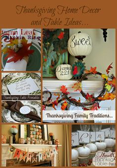 Thanksgiving Home Decor and table ideas