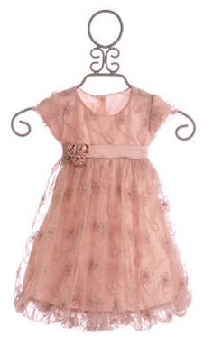 Biscotti Little Girls Dusty Rose Flower Overlay Dress Girls Holiday Dresses, Gowns For Girls, Trendy Dresses, Special Occasion Dresses, Girls Dresses, Flower Girl Dresses, Flower Girls, Little Girl Outfits, Kids Outfits