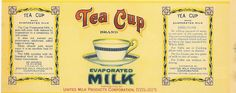 TEA CUP EVAPORATED MILK (resize for dollhouse)