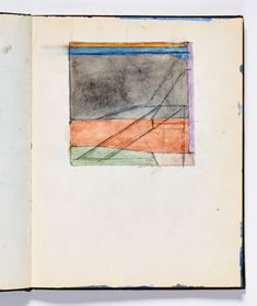 Diebenkorn, Watercolor, graphite, and pen and ink Page 127 from Sketchbook # 18 [baby Ocean Park)