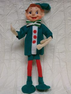 Vintage Pixie Elf Doll Circa 1950s Impishly Cute 10 Inches Tall
