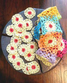 crochet, crochet motifs, crochet blocks, crochet squares,