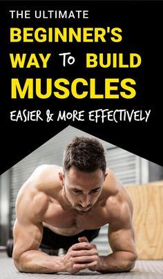 You don't need the gym to bulk muscles This is the ultimate guide to build muscle as a beginner Whether you're wanting to build lean muscle or get bigger arms or bigger gains, this will help you achieve that goal easier! is part of Exercise - Fitness Workouts, Fitness Motivation, Bulk Muscle, Gain Muscle, Muscle Fitness, Health Fitness, Physical Fitness, Get In Shape, Workout Programs