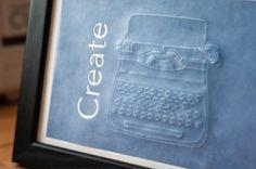 Debossed Typewriter Art   Erica Sooter for Silhouette America