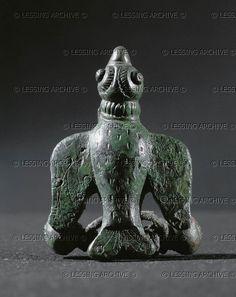HALLSTATT CULTURE JEWELRY 5TH BCE Bird. Bronze fibula from tomb 70/2, Duerrnberg, Hallein, Austria. Keltenmuseum, Hallein, Austria