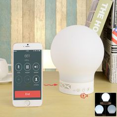 S10 Smart Rechargeable Bluetooth V4.0 Speaker Magic LED Lamp Hands-free - White