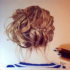 Hair technique.
