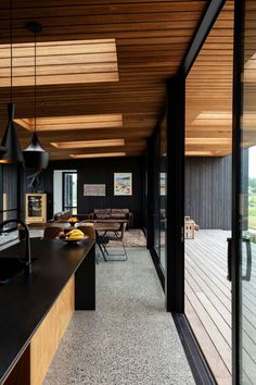 Timber Ceiling, Raked Ceiling, Decor Interior Design, Interior Decorating, Shed Homes, Roof Light, Story Video, Home Reno, Home And Living