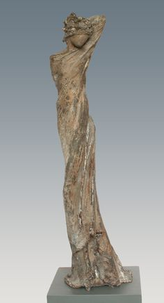 """Laila - bronze scuplture by Kieta Nuij (Netherlands) """"The inner picture made visible, tangible. The reflection of the soul. Silenced motion, grace, beauty, and at the same time tension, struggle, the raw aspect of experience in life. This is exemplified in the work of Kieta Nuij"""""""