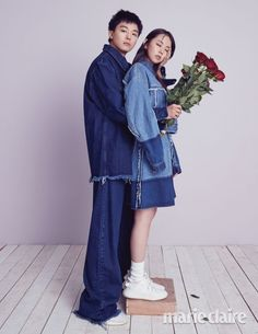 Yeon Woo Jin & Ahn Sohee ( ) for Marie Claire Korea ( ) April Photographed by Wedding Photoshoot, Wedding Shoot, Yeon Woo Jin, Fashion Couple, Parisian Chic, Celebs, Celebrities, Fashion Shoot, Engagement Photos