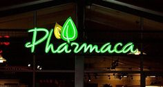 Pharmaca exposed neon channel letter sign by SignDealz.com