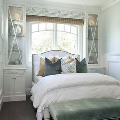 Roman Blind And Shade Combo To Decorate Window Behind Bed Dream Bedroom Home
