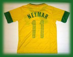 NEW BRAZIL BRASIL HOME NEYMAR 11 FOOTBALL SOCCER KIDS JERSEY 10-11 YEARS by FBF. $22.99. BRAZIL BRASIL HOME NEYMAR 11 FOOTBALL SOCCER KIDS JERSEY 10-11 YEARS