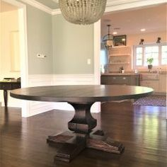 Rustic Elements Furniture custom builds round tables, available in your choice of wood, style, and distress. 60 Inch Round Table, Round Tables, Custom Furniture, Dining Room Table, Home Kitchens, Rustic, Wood, House, Home Decor