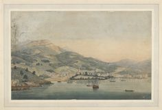 Hobart Town on the River Derwent, Van Diemen's Land - February 1830 Van Diemen's Land, Penal Colony, Historical Pictures, Tasmania, Family History, Genealogy, Sydney, Past, February