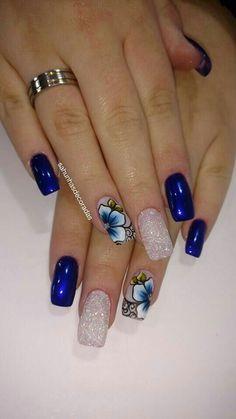 Cute Acrylic Nail Designs, Cute Acrylic Nails, Nail Art Designs, Nails Design, Summer Gel Nails, Winter Nails, Nagellack Trends, Pretty Nail Art, Nagel Gel