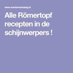 Alle Römertopf recepten in de schijnwerpers !